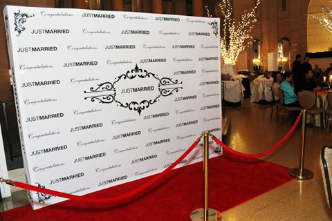 Step and repeat, red carpet and stanchions